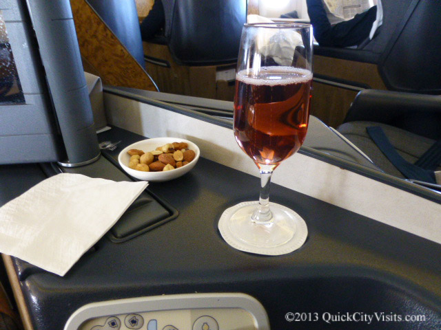 Kir Royale and nuts