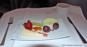 Fruit and Cheese platter.