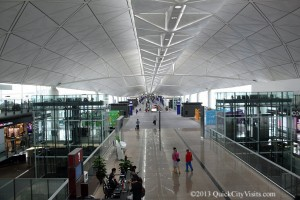 View of the terminal in Hong Kong.