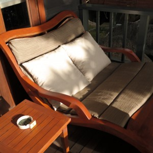SAM2 person lounge chair on the deck.SUNG CSC
